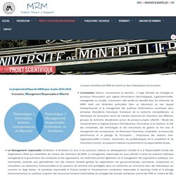 Montpellier Research in Management » Projet scientifique