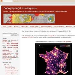 Une carte animée montrant l'évolution des densités en France (1876-2018)