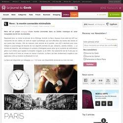 Nevo : la montre connectée minimaliste