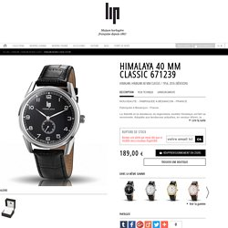 Montre Lip Himalaya 1954 acier black cuir 40 mm. 671239 mouvement quartz