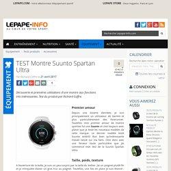 TEST Montre Suunto Spartan Ultra