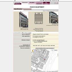 Vieux-Montréal – Fiche d'un bâtiment : Magasin-entrepôt Hector-Lamontagne