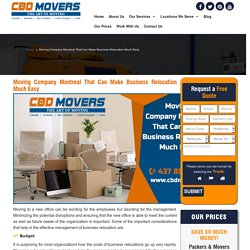 Movers Montreal