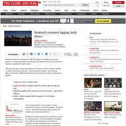 Montreal's economy lagging, study shows
