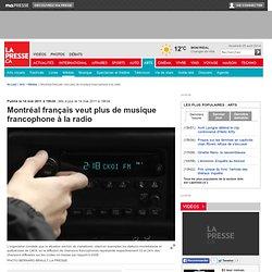 Montréal français veut plus de musique francophone à la radio
