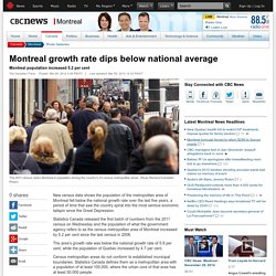 Montreal growth rate dips below national average - Montreal