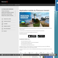Parcours riverain - Application mobile