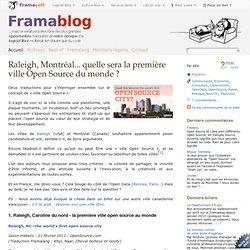 Raleigh, Montréal... quelle sera la première ville Open Source du monde ?