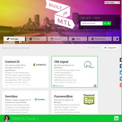 Startups Built in Montreal | #builtinmtl
