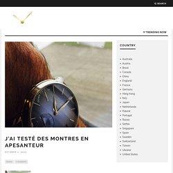 J'ai testé des montres en apesanteur – Planet Watches