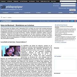 Salon de Montreuil : Révélations sur la lecture