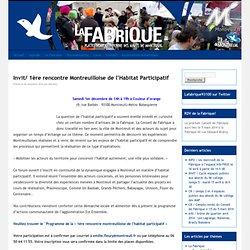 Invit/ 1ère rencontre Montreuilloise de l'Habitat Participatif
