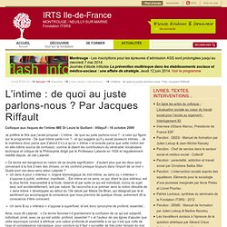 IRTS Montrouge/Neuilly-sur-Marne - Fondation ITSRS