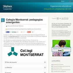 Colegio Montserrat: pedagogías emergentes