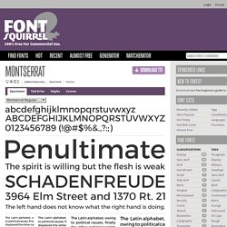 Free Font Montserrat by Julieta Ulanovsky