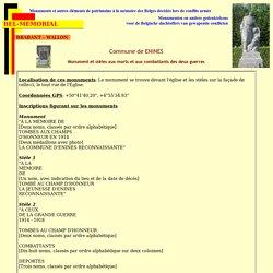 Enines - Monument et stèles aux morts et aux combattants des deux guerres