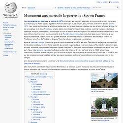 Monument aux morts de la guerre de 1870 en France