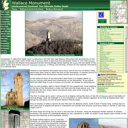 Wallace Monument Feature Page on Undiscovered Scotland