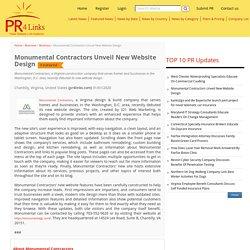 Monumental Contractors Unveil New Website Design