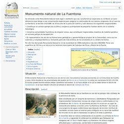 Monumento natural de La Fuentona
