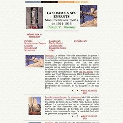 Monuments aux morts de 14-18; Circuit V : Péronne