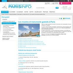 Les musées et monuments gratuits à Paris - Paris gratuit
