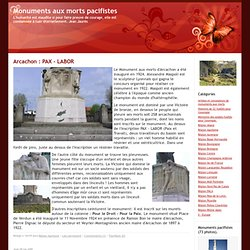 Monuments aux morts pacifistes