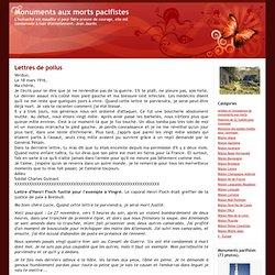 Monuments aux morts pacifistes: Lettres de poilus