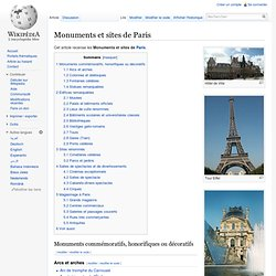 Monuments et sites de Paris