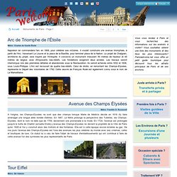 Monuments de Paris - Notre Dame - Tour Eiffel - Arc de Triomphe