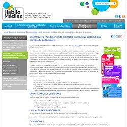 MonUnivers : Un tutoriel de littératie numérique destiné aux élèves du secondaire