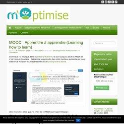 MOOC : Apprendre à apprendre - M'optimise