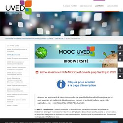 MOOC Biodiversité - Uved