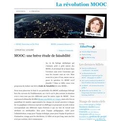 MOOC: une brève étude de faisabilité