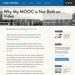 Why My MOOC is Not Built on Video — Class Central