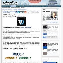 MOOC, c-MOOC, xMOOC ?