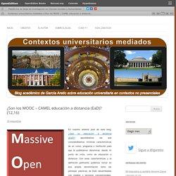 ¿Son los MOOC – CAMEL educación a distancia (EaD)? (12,16)
