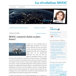 MOOC: comment choisir sa plate-forme?