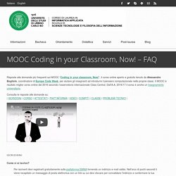 MOOC Coding in your Classroom, Now! – FAQ