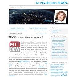 MOOC: comment tout a commencé
