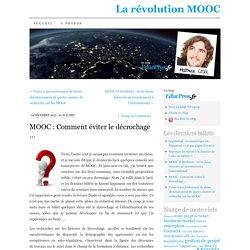MOOC : Comment éviter le décrochage …