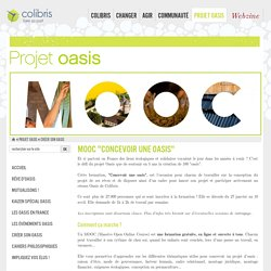 """MOOC """"Concevoir une oasis"""""""