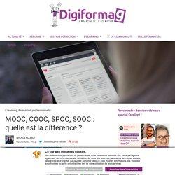 MOOC, COOC, SPOC, SOOC : quelle est la différence ?