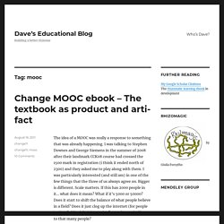 mooc – Dave's Educational Blog