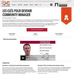 MOOC Les clés pour devenir Community Manager