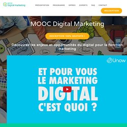 MOOC Démarrage le 27 février 2017 - Digital Marketing