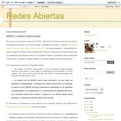 Redes Abiertas: MOOC y diseño instruccional