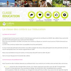 Mooc Education : PagePrincipale