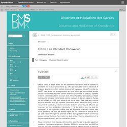 MOOC: en attendant l'innovation