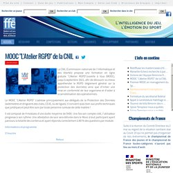 "MOOC ""L'Atelier RGPD"" de la CNIL"